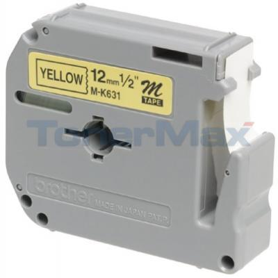 BROTHER P-TOUCH LABELERS BLACK/YELLOW 1/2IN WIDTH